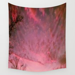 Red Night sky Wall Tapestry