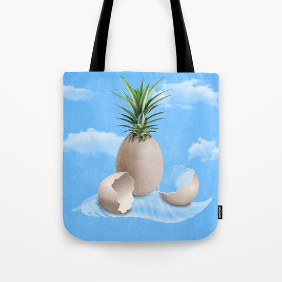 EGGS ON A FEATHER (surreal abstract) Tote Bag