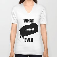 whatever V-neck T-shirts featuring WHATEVER by Delirium