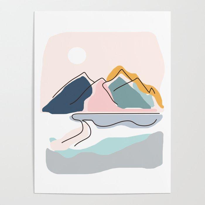 Minimalistic Landscape Poster