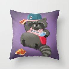 Rad Raccoon Throw Pillow