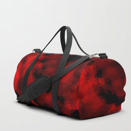 Black red polygonal background Duffle Bag
