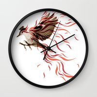 freedom Wall Clocks featuring freedom by Steven Toang