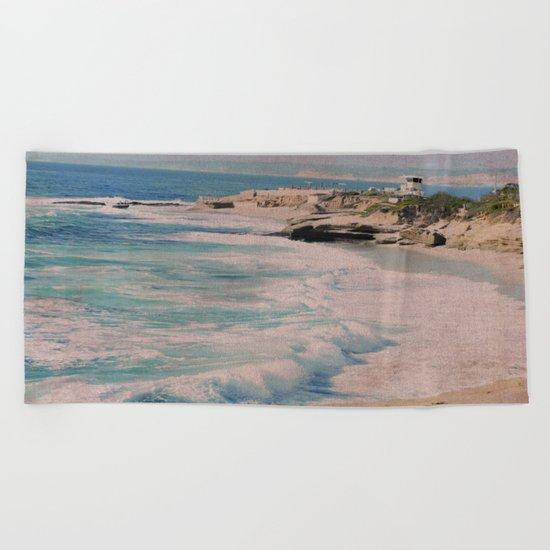 BOYS ON A ROCK Beach Towel
