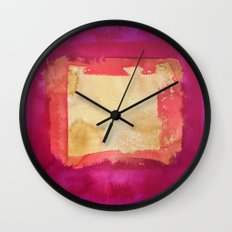 color abstract 4 Wall Clock