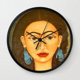 My homage to Frida Kahlo Wall Clock
