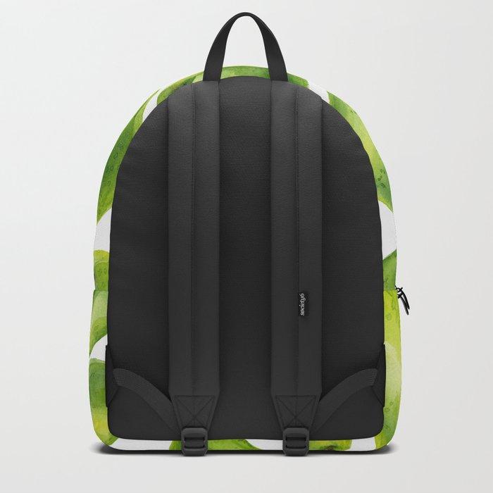 Green pears watercolor pattern Backpack
