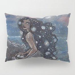Evening Glow Mermaid and Firefly Squid Pillow Sham