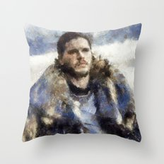 waiting for the battle Throw Pillow