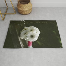 Bouquet of white flowers Rug