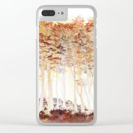 Abstract Monterey Cypress In Infrared with Tint Overlay Clear iPhone Case
