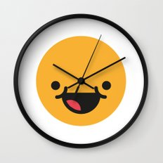Emojis: Happy Wall Clock