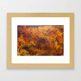 acrylic abstract on 63x94 cm canvas Framed Art Print