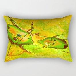 les amours des scarabées chinois Rectangular Pillow