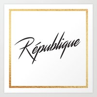 """République"" by Ashley Crawley Art Print"