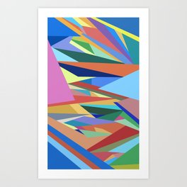 Colorful Triangle Pattern Art Print