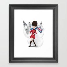 UK Girl Framed Art Print