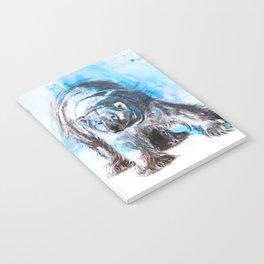 Purple Python - Mixed media painting Notebook