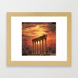 Baalbek Sunset Framed Art Print