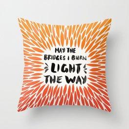 Bridges Burned – Fiery Palette Throw Pillow