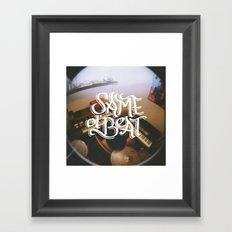 Same Ol' Beat Framed Art Print