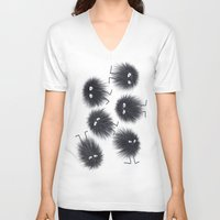 men V-neck T-shirts featuring Ink Men by Jennifer Warmuth Art And Design