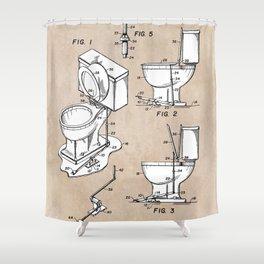 patent art Fields Toilet seat lifter 1967 Shower Curtain