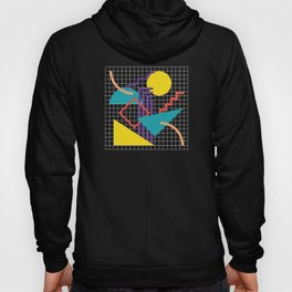 Memphis Pattern - 80s Retro Black Hoody