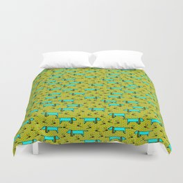 Pupsie n Dragon Duvet Cover