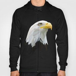 American Eagle Head Lowpoly Art Illustration Hoody