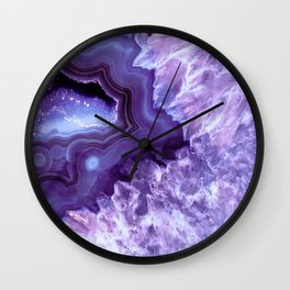 Purple Lavender Quartz Crystal Wall Clock