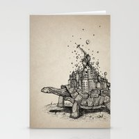 tortoise Stationery Cards featuring Tortoise Town by Brandon Dover (Braniel)