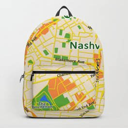 Map of Nashville, TN Backpack
