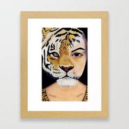 Human Tiger Framed Art Print