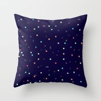 constellations Throw Pillows featuring Constellations by Jenna Mhairi