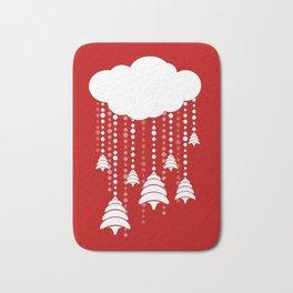 Christmas, snow, tree and cloud Bath Mat