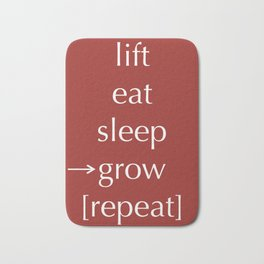 Lift Eat Sleep Repeat Bath Mat
