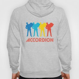 Accordion Player Retro Pop Art Graphic Hoody