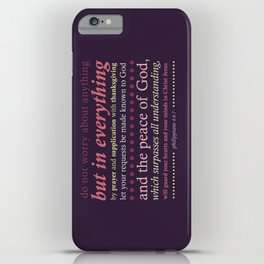 Philippians 4:6-7 iPhone Case