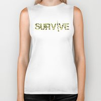 army Biker Tanks featuring Survive (Army) by eARTh