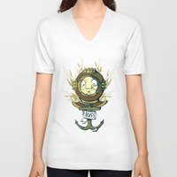 abyss V-neck T-shirts featuring Abyss by Emeline Chauvin