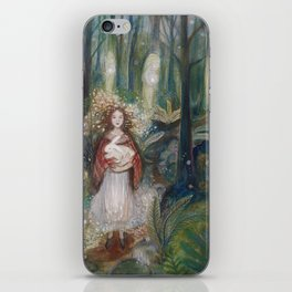Gwynith and the White Rabbit iPhone Skin