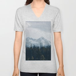 Canadian Mountains -Banff, Alberta Unisex V-Neck