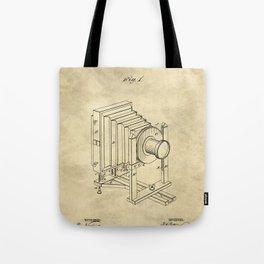 Industrial Farmhouse Blueprint Camera Tote Bag