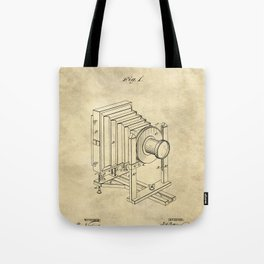 Industrial Farmhouse Blueprint Camera Tote Bag