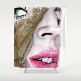 feather's eye Shower Curtain