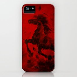 HORSE - RED iPhone Case