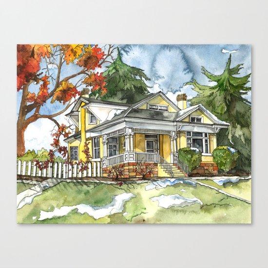 The Autumn House Canvas Print