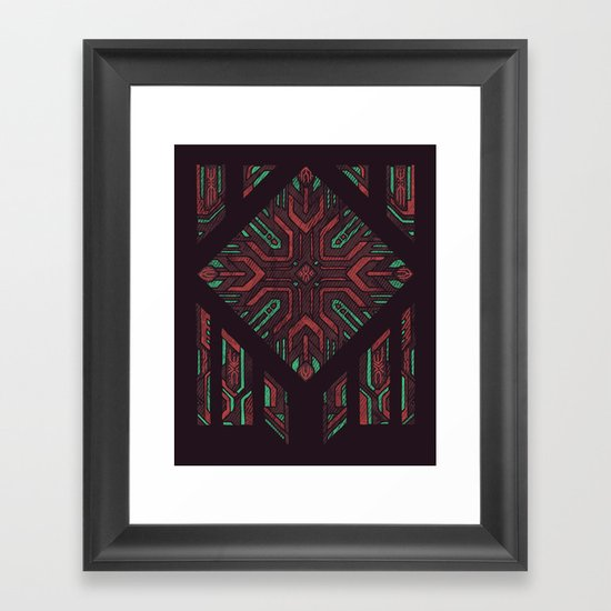 Compartmentalized Framed Art Print