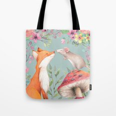 Fox & mouse Tote Bag